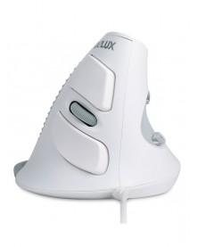 Проводная Вертикальная мышь - Delux M618 white