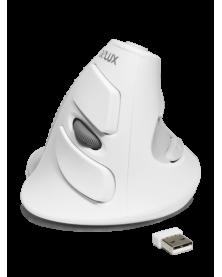 Беспроводная Вертикальная мышь - Delux M618 white