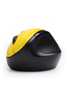 Беспроводная Вертикальная мышь Qisan желтая