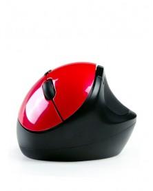 Беспроводная Вертикальная мышь Qisan красная