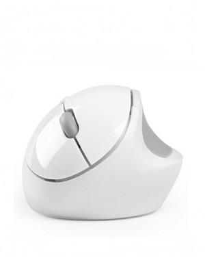 Беспроводная Вертикальная мышь Qisan белая